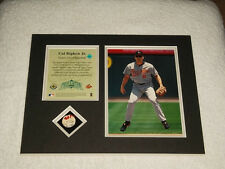 Cal Ripken Jr Game Used Piece of Baseball Upper Deck Authenticated MLB Photo