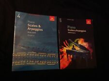 ABRSM PIANO SCALES AND ARPEGGIOS, GRADES 4 and 5. FROM 2009 VG UNMARKED