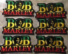 """Six Bob Marley Patches-Sew On/Iron On-BRAND NEW CONDITION-Approx 4 1/4"""" x 2 1/4"""""""