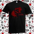New Dota 2 Art Game Logo Defense of The Ancients Men's Black T-Shirt Size S-3XL