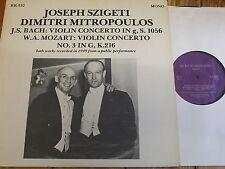 RR-532 Bach / Mozart Violin Concertos / Szigeti / Mitropoulos