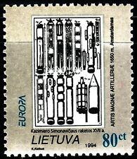 SELLOS TEMA EUROPA LITUANIA 1994 DESCUBRIMIENTOS  485 1v.