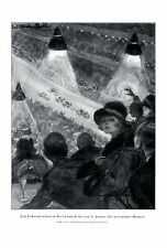 Sixdays Berlin XL german art print 1925 Paul Helwig - Strehl bicycle race bike +