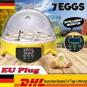 Mini Inkubator Brutkasten Vollautomatische Brutmaschine Brutapparat 7 eier DHL