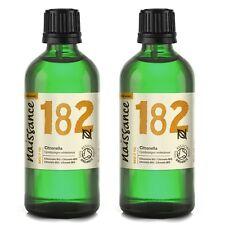 Naissance Citronella Essential Oil Certified Organic 2x100ml 100 Pure