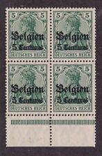 Kappysstamps Id3709 German Occupied Belgium N2 Bk/4 Mint Nh Block Never Hinged