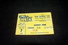 Vintage 1959 Lexington Trots Kentucky KY Ticket Day 7