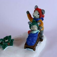 AVON Figurine Mice on Snow Christmas Winter Collectable Kathy Jeffers Vintage