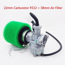 22mm Carby Carburetor 38mm Air Filter For 110 125cc ATV Go Kart Buggy Dirt Bike