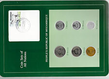Coin Sets of All Nations Mozambique w/card 1980-1982 UNC 1 Metical 1982 6 SET 89