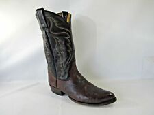 Tony Lama 6176 Size 9.5 M Brown Leather Cowboy Western Pull Up Boots Mens Shoes