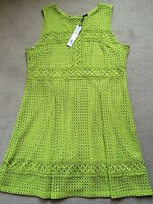 GOK WAN SIZE 20R NEW  LACE PANEL LIME GREEN EMBROIDERED DRESS   BNWT