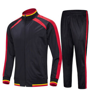 Mens Tracksuit 2 Piece Casual Pant Sweater Jacket Sweatsuit Sport Sweatshirt Set