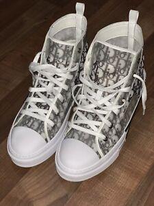 Dior B23 High Top Oblique White Sneakers Men's Size 10/43 (NO BOX!!)