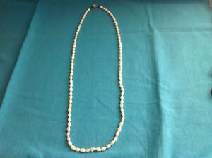 VINTAGE FRESHWATER PEARL LONG NECKLACE WITH ORNATE CLASP. EXCELLENT CONDITION