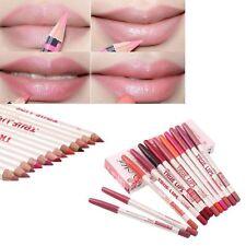 12 Couleurs Crayon à Lèvres Stylo Lip Liner Rouge Contour Maquillage Cosmétique