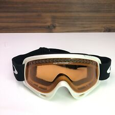 Oakley Snow Goggles White Frame SKIING SNOWBOARDING UNISEX Amber Lens