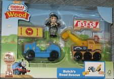New Thomas & Friends Wooden Railway Butch's Road Rescue Playset Free Shipping !