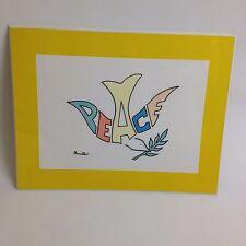 """VTG 1975 Peace Dove Retro 11"""" Wall Art Decor Benita Name Game Hippie Retro Hippy"""