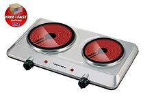 Electric Cooktop Burner Infrared Ceramic Glass Hot Plate 2 Two Cooking Stove NEW