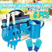 Kids Children Garden Gloves Shovel Gardening Tools Fork Gardener Watering Can