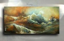 Seascape Impressionist Art Giclee canvas print 'Sandy' Contemporary Mix Lang