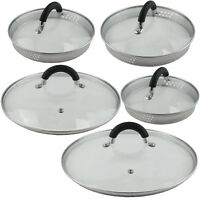 Glass Spare Replacement Draining SAUCEPAN LIDS Pan Cover Strainer Colander Sieve