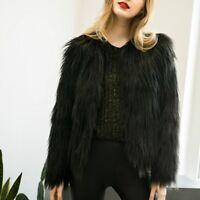 abrigo chaqueta invierno pelo sintetico Faux Fur Autumn Fluffy Outerwear Coat