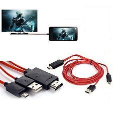 MHL Micro USB a HDMI 1080P HD TV Cavo Adattatore Per Samsung Galaxy S5 S4 i9600
