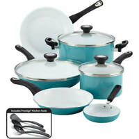 Farberware PURECOOK Ceramic Nonstick Cookware 12 Piece Cookware Set Kitchen NEW