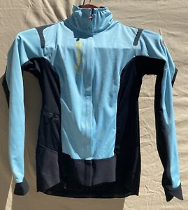 Castelli Alpha Ros Women Jacket Light Blue Celeste? Small Gore Windstopper