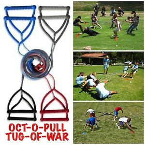 OCT-O-PULL 2-8 Person Team Building & Athletic Strength Tug of War Battle Rope