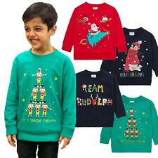Kids Boys Girl Christmas Jumper Xmas Sweatshirt Top Sweater Festive Novelty Gift