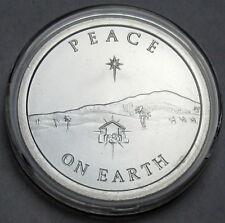 2013 Silver Shield Peace On Earth 1 oz .999 Silver BU Round Coin Rare SBSS