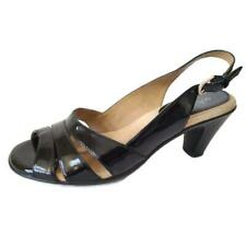 Softspots Womens Shoes Solos Kirstie Sling Back Open Toe Black Patent Size 8M