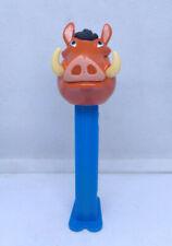 Lion King - PEZ dispenser - Pumbaa (2004) - Blue Stem - loose - Made in Hungary