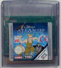 jeu DISNEY ATLANTIS THE LOST EMPIRE sur nintendo game boy color gbc spiel juego
