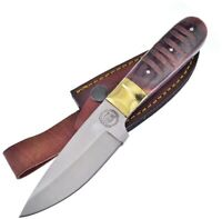 """Frost Fixed Knife 4"""" Satin Finish Stainless Steel Blade Jigged Bone Handle"""