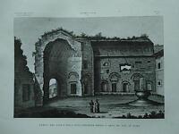 1845 Zuccagni-Orlandini Tempio del Sole e della Luna presso l'Arco di Tito Roma