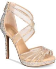 $109 size 9 Thalia Sodi Ceara Nude Evening Ankle Strap Platforms Sandals Shoes