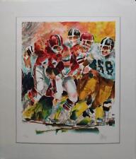 "Wayland Moore ""Football"" Rare Sports Lithograph 21x25 Hand Signed/# Edit. 300"