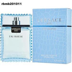 Versace Man Cologne Blue Perfume for Men Eau Fraiche New EDT Spray 3.4 oz 100 ml