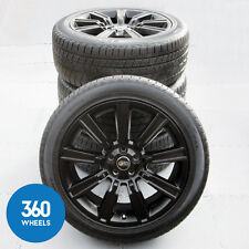 "NEW GENUINE RANGE ROVER SPORT 21"" BLACK STYLE 901 ALLOY WHEELS CONTINENTAL TYRES"