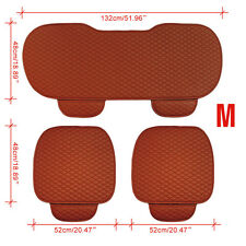 3pcs Car Backseat Front Seat Cushion Case Pad Seat Chair Universal Cover Size M