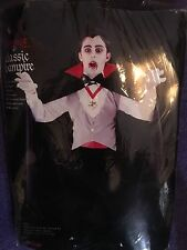 CLASSIC VAMPIRE 6 PC CHILD ONE SIZE FITS ALL COSTUME! FITS UP TO SIZE 12!