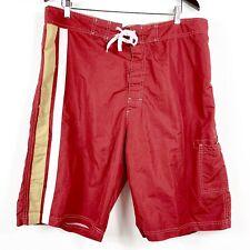 NFL TEAM APPAREL San Francisco 49ers Red Gold  Swim Trunks Shorts Men XXL (1693)