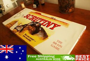 Scrutiny Australian Vintage Board Game All Ages - Board + 32 Marbles in Box