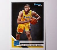 2019-20 Donruss TALEN HORTON-TUCKER RC Rated Rookie #248 Los Angeles Lakers 🔥