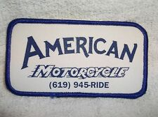 American Motorcycle Used Sew On Name Patch Tag