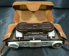KODAK STEREO CAMERA /Anaston Lens 35mm f/3.5 + Leather FIELD Case. VINTAGE.